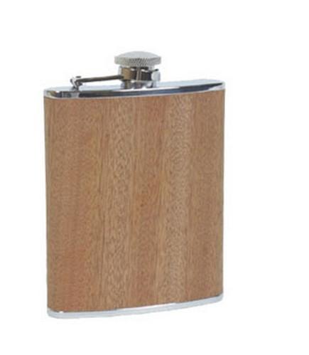 Relags Flachmann Holz rozsdamentes acél flaska