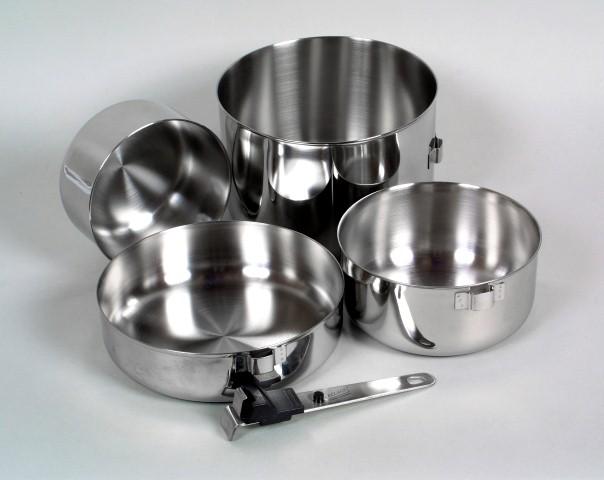Relags Biwak 3 rozsdamentes acél főző szett