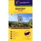 Cartographia Bakony déli rész turistatérképe