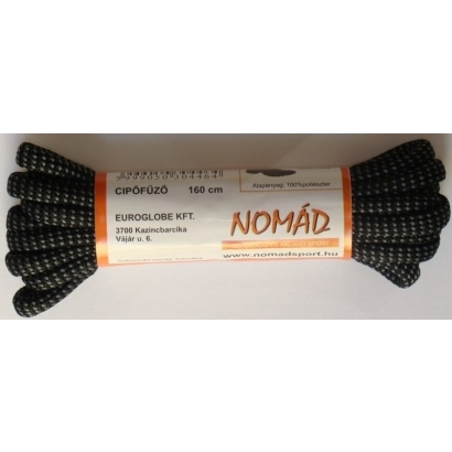 Nomad 140 cm-es szürke cipőfűző