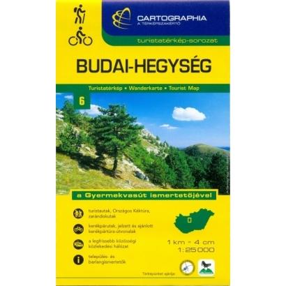 Cartographia Budai-hegység turistatérképe