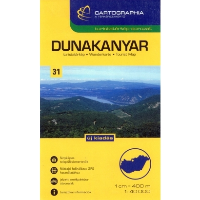 Cartographia Dunakanyar turistatérképe