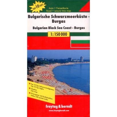Freytag Bulgarian Black sea térképe