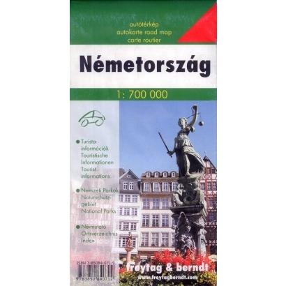 Freytag Németország térképe