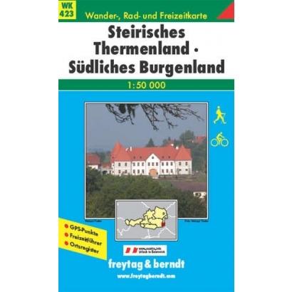 Freytag Steirisches Thermenland-Südliches Burgenland turistatérképe