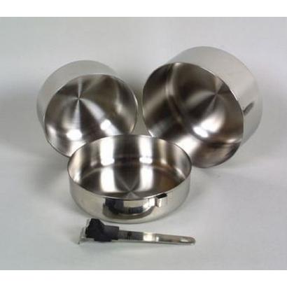 Basic Nature Biwak Edelstahl 1 háromrészes rozsdamentes acél edénykészlet