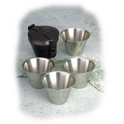 Basic Nature rozsdamentes acél pohárkészlet 4 az 1-ben