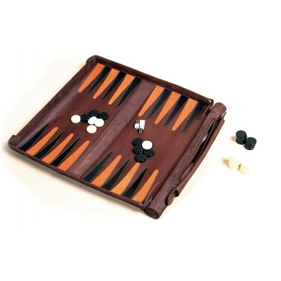 Leathersafe Roll & Play backgammon játék