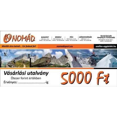 Vásárlási utalvány - 5.000 Ft