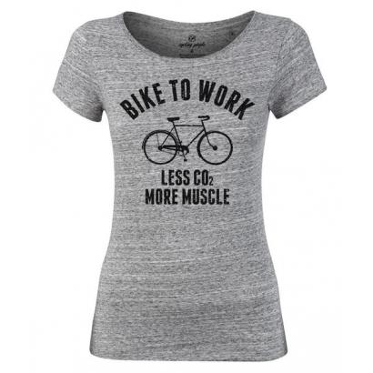 Cycling People Bike To Work női rövid ujjú organikus pamut póló