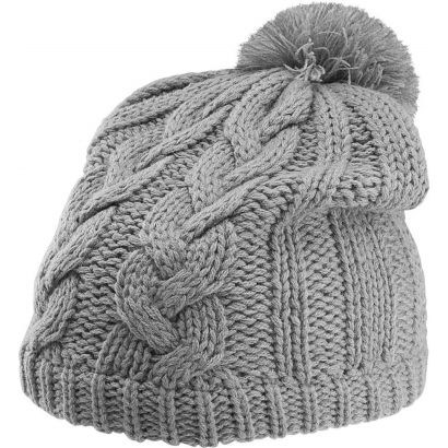 K-up Cable Knit Pom Pom Beanie sapka