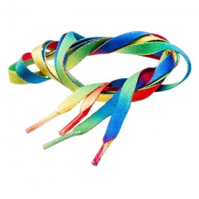 IQ Multicolor lapos cipőfűző