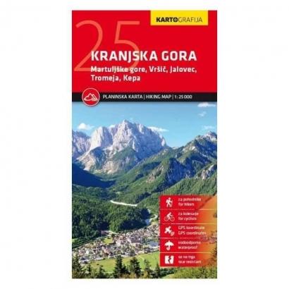 Kartografija Kranjska Gora 1:25 000-es turistatérkép