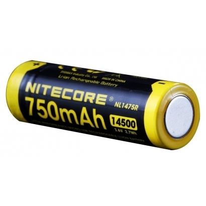 Nitecore 14500 USB Li-Ion Akku, 750 mAh, NL1475R
