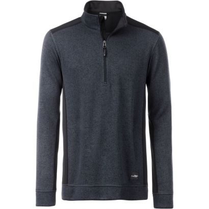 James & Nicholson Knitted Fleece Halfzip Strong férfi felső