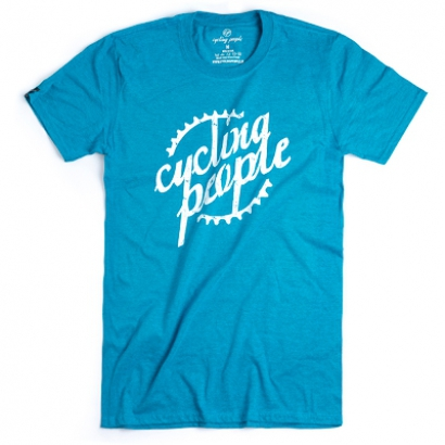 Cycling People CP Logo férfi rövid ujjú organikus pamut póló