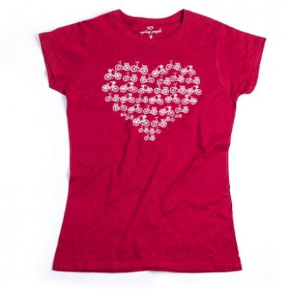 Cycling People Heart női póló