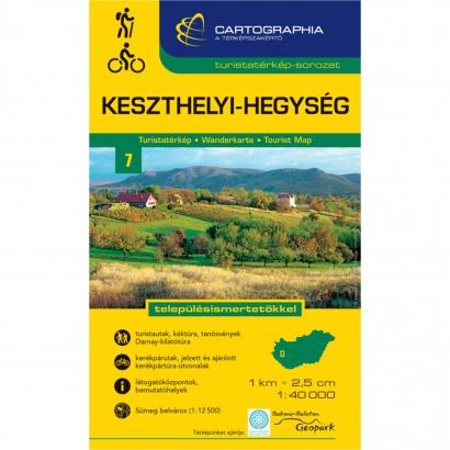 Cartographia Keszthelyi-hegység turistatérkép