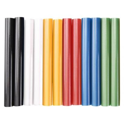 Extol ragasztóstift klt., többszínű; 12 db, 100×11 mm, bliszteren