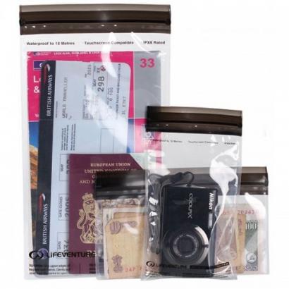 Lifeventure DriStore Loc Top Bags for Valuables 3-Pack vízhatlan tasak készlet