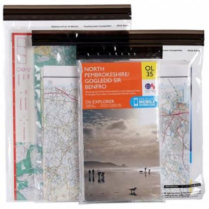 Lifeventure DriStore Loc Top Bags for Maps 3-Pack vízhatlan tasak készlet