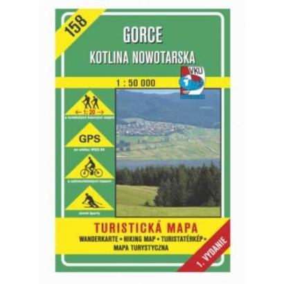 GORCE Kotlina Nowotarska Turistatérkép