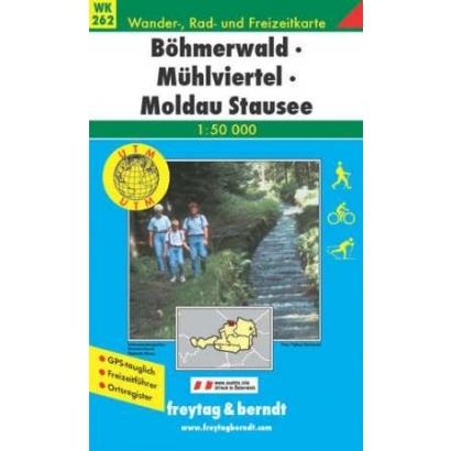 Freytag & Berndt Cseh-erdő, Mühlviertel, Moldva-víztároló turistatérkép