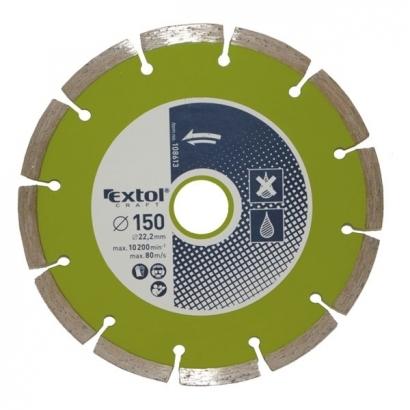 Extol Craft 108611 115×22,2mm-es gyémántvágó szegmenses