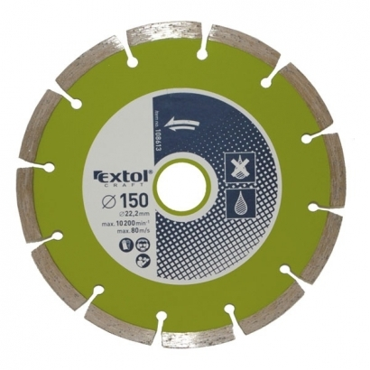 Extol Craft 108614 180×22,2mm-es gyémántvágó szegmenses