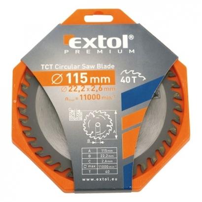 Extol Premium 8803203 115×22,2mm-es keményfémlapkás körfűrészlap