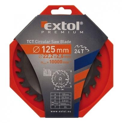 Extol Premium 8803206 125×22,2mm-es keményfémlapkás körfűrészlap