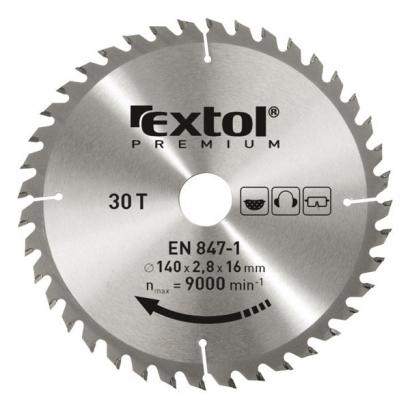 Extol Premium 8803210 140×16mm-es keményfémlapkás körfűrészlap