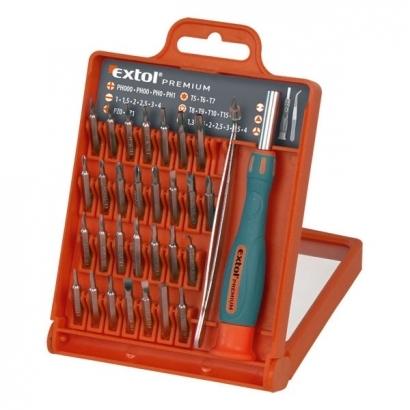 Extol Premium 8819105 csavarhúzó készlet bitekkel