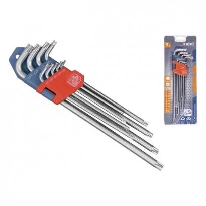 Extol Premium 8819412 extra hosszú torx kulcs készlet