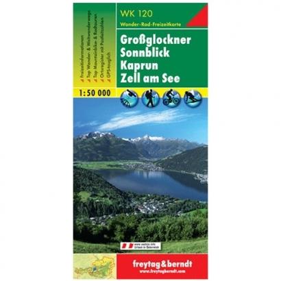 Freytag & Berndt Großglockner, Kaprun, Sonnblick, Zell am See turistatérképe