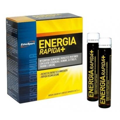 EthicSport Energia Rapida+ hipertónikus étrend-kiegészítő ampulla