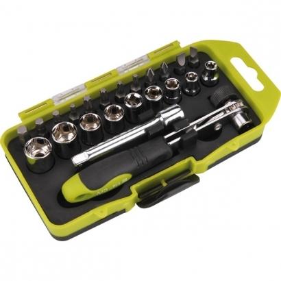 Extol Craft 53090 racsnis BIT és dugókulcs készlet