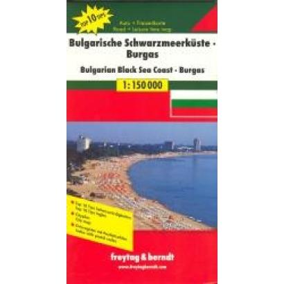 Freytag & Berndt Bolgár-román Fekete-tengerpart térkép