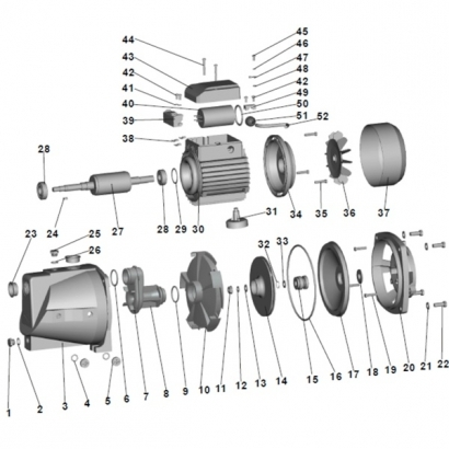 Extol 84510-36 ventilátor 84510 kerti szivattyúhoz