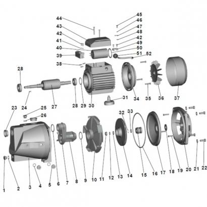 Extol 84510-37 ventilátor védőburkolat 84510 kerti szivattyúhoz