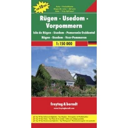 Freytag & Berndt WKD8 Rügen túra, kerékpáros és szabadidő térkép