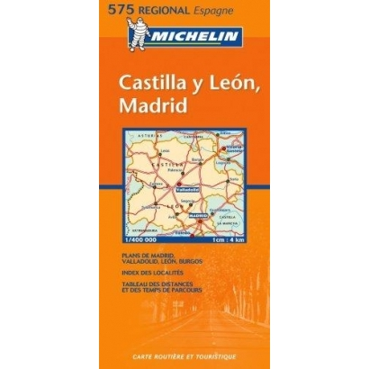Michelin Castilla y León, Madrid autóstérkép