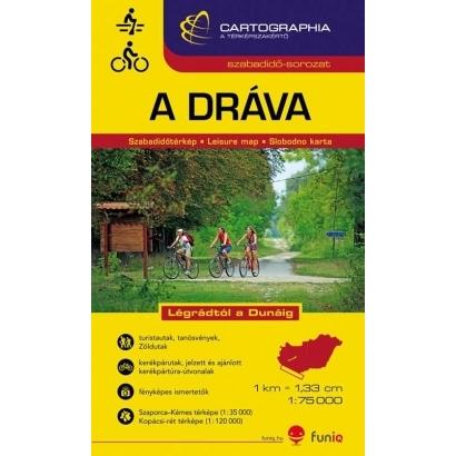 Cartographia Dráva vízisport és kerékpáros térkép