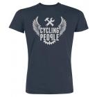 Cycling People Logo Wing férfi rövid ujjú organikus pamut póló