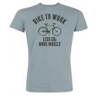 Cycling People Bike To Work férfi rövid ujjú organikus pamut póló