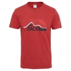 The North Face Mount Line Tee férfi póló (Bossa nova red)
