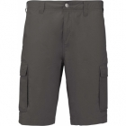 Kariban Lightweight multipocket bermuda (Light Charcoal)