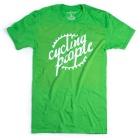 Cycling People CP Logo férfi rövid ujjú organikus pamut póló (Electric Green)