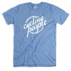 Cycling People CP Logo férfi rövid ujjú organikus pamut póló (Indigo Blue)