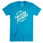 Cycling People CP Logo férfi rövid ujjú organikus pamut póló (Antique Sapphire)